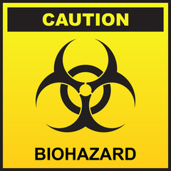 Warning ebola biohazard sign vector