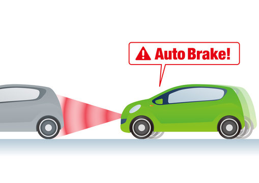 Brake assist system illustration