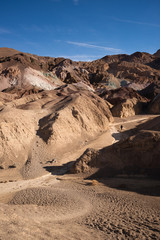 Woman Hiking Artist's Point Death Valley  Badlands California
