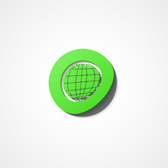 Earth globe web icon