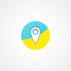 Map pointer web icon
