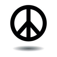 Peace sign black