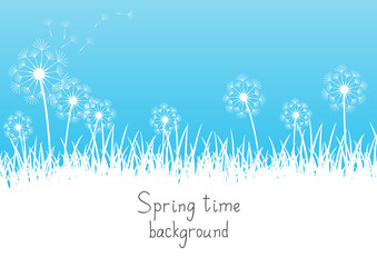 Spring background with place for text