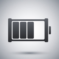 Battery icon, vector illustration