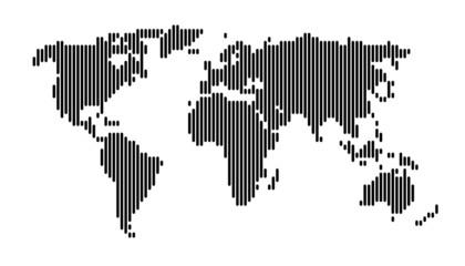 Foto op Plexiglas Wereldkaart World map vertical black lines EPS 10