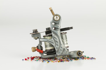 Tattoo machine   gun - Stock Image macro.