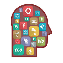 Eco icons in the head