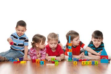 Five children in kindergarten