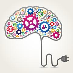 Creative brain concept