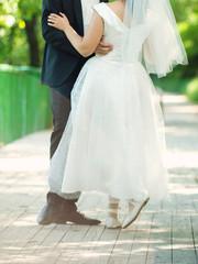 Groom with Ballerina Bride