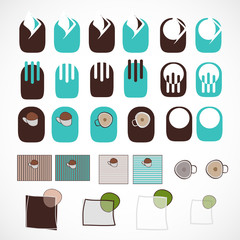 Restaurant coffee logo vector pack