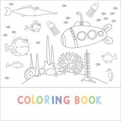 coloring book sea life