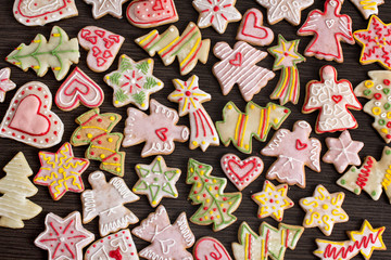 Gingerbread cookies for New Year's day and Christmas