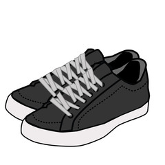 vector  shoe isolated