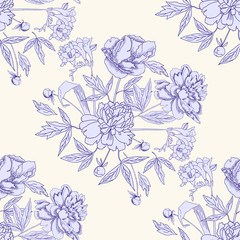 Seamless pattern with bouquet of flowers-05