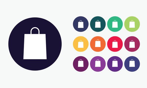Shopping bag icons.