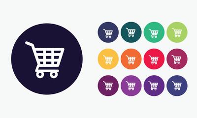 Vector set shopping cart icon.