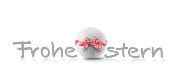Frohe Ostern mit golfball