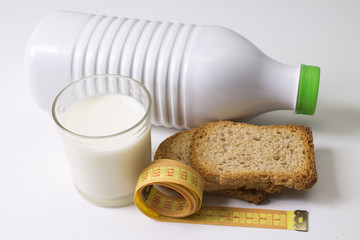 milk with tape measure