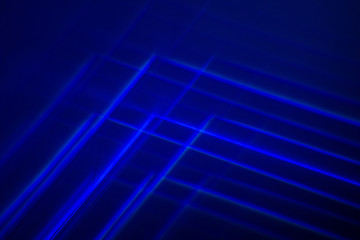 Blue Abstract Light Painting