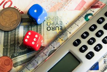 dice and calculator