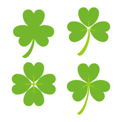 Set of Green Shamrock Symbols - St. Patrick's Day