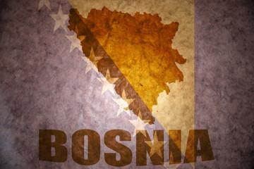 Vintage bosnia map