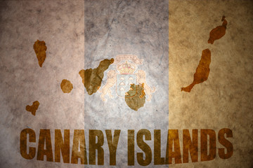 Vintage canary islands map