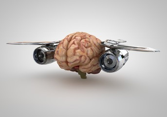 Brain with Jet Engines
