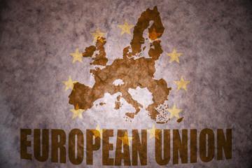 Vintage european union map