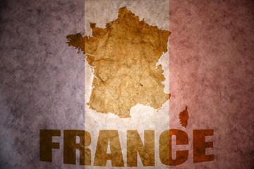 Vintage france map