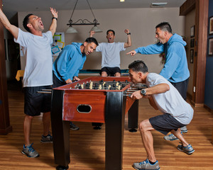 Personal competition playing foosball