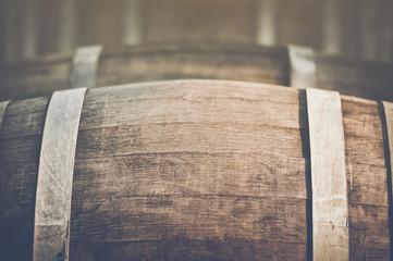Wine Barrel with Vintage Instagram Film Style Filter