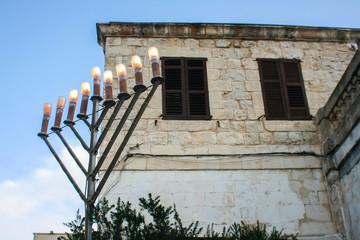 Menorah for Chanukah in Jerusalem