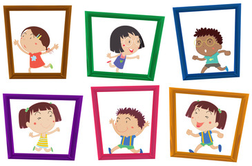 Children and photo frames