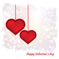 Valentines day card on background