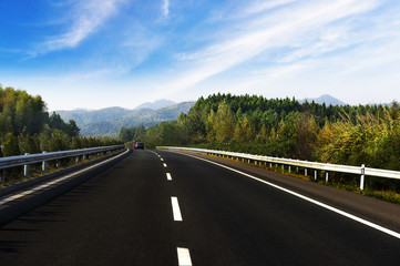 Newly built highway