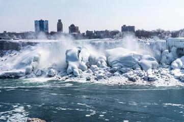 Niagara Fälle Gefroren