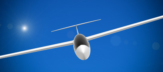 Glider, front view
