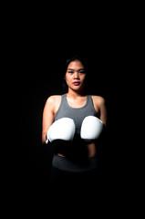 Asian Female Boxer
