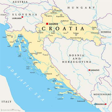 Croatia Political Map