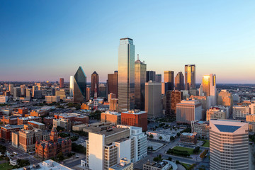 Poster de jardin Texas Dallas, Texas cityscape