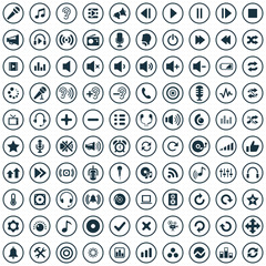 100 audio icons
