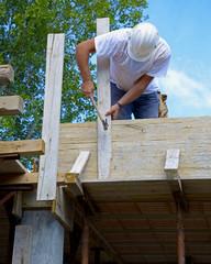 Work concrete slab structure
