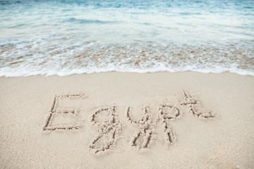 Egypt Written On Sand By Sea