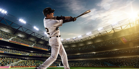 Professional baseball player in action Wall mural