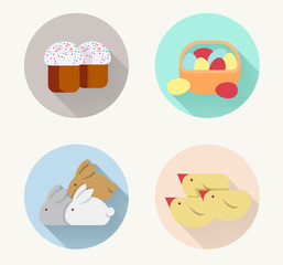 easter 4 icons holliday