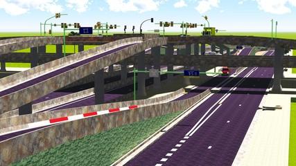 high-level overpass
