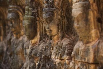 Khmerskie płaskorzeźby