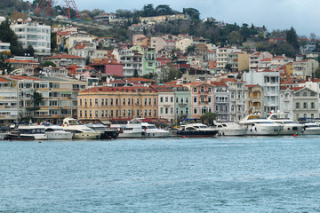 View of Istanbul from a boat